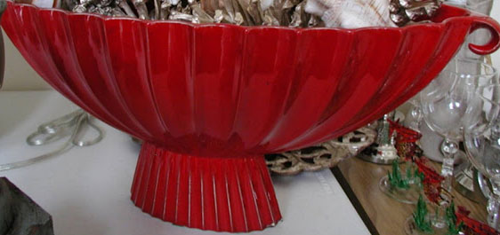 Red centerpiece bowl images