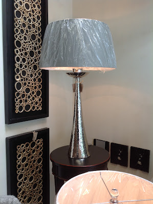 Nickel Hammered Lamp