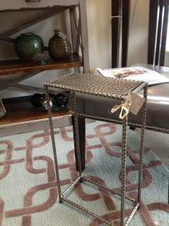 Hammered Mini Drink Table